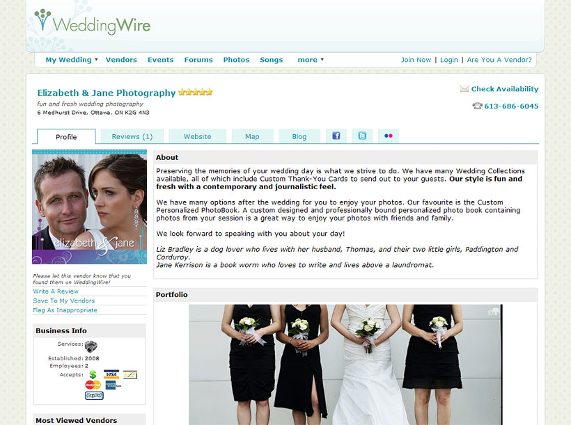 elizabeth&jane photography on Wedding Wire!