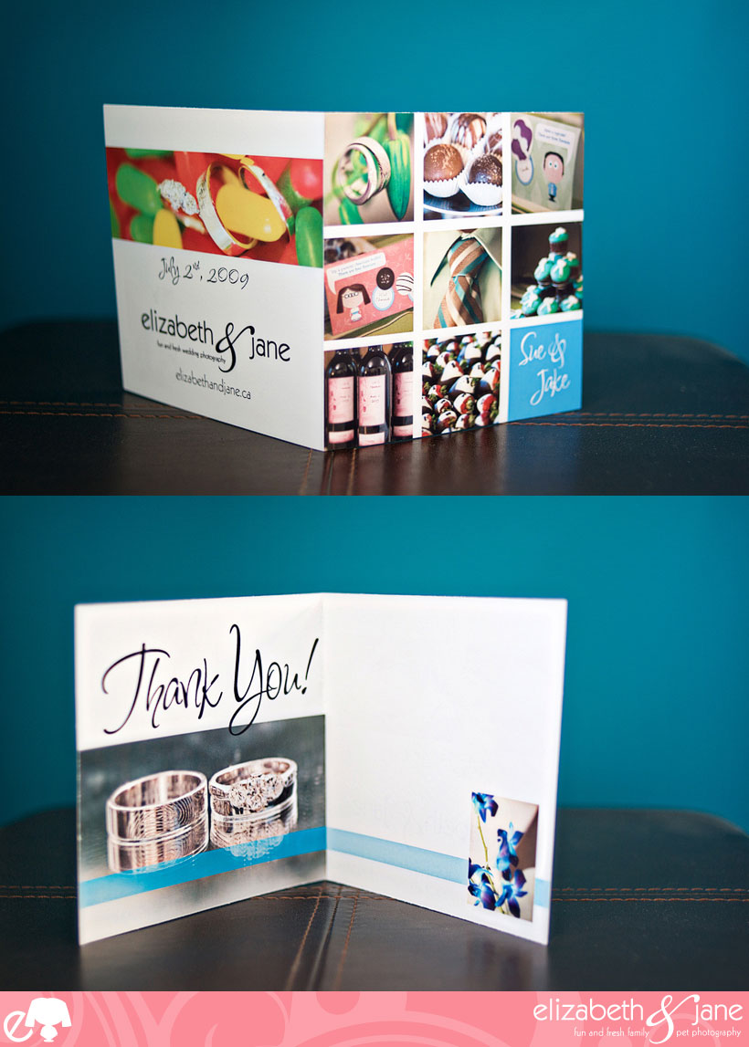 Complimentarty Custom Wedding Thank You Cards - Classic Mosaic