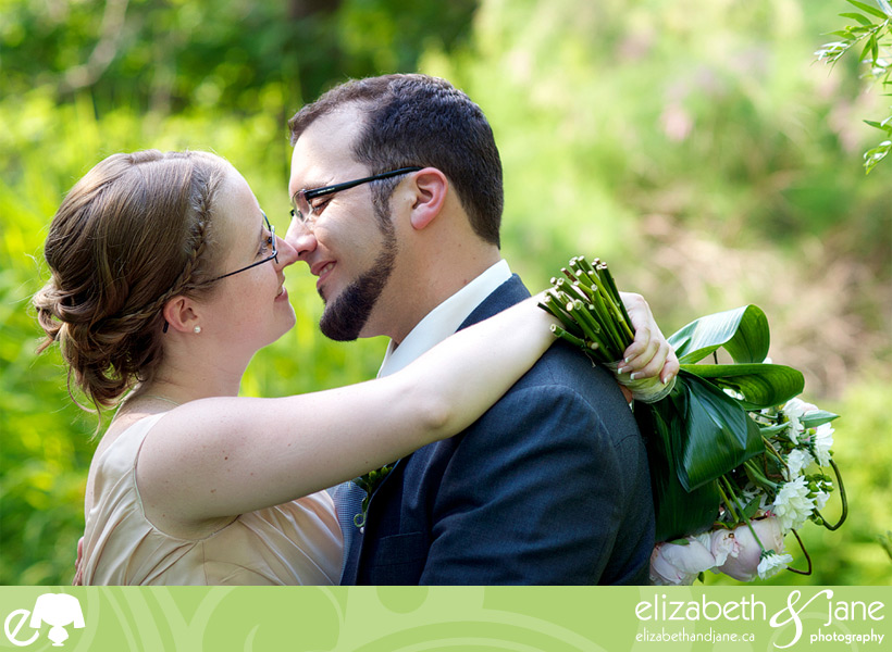 Wedding Photos: photo of the bride and groom touching noses