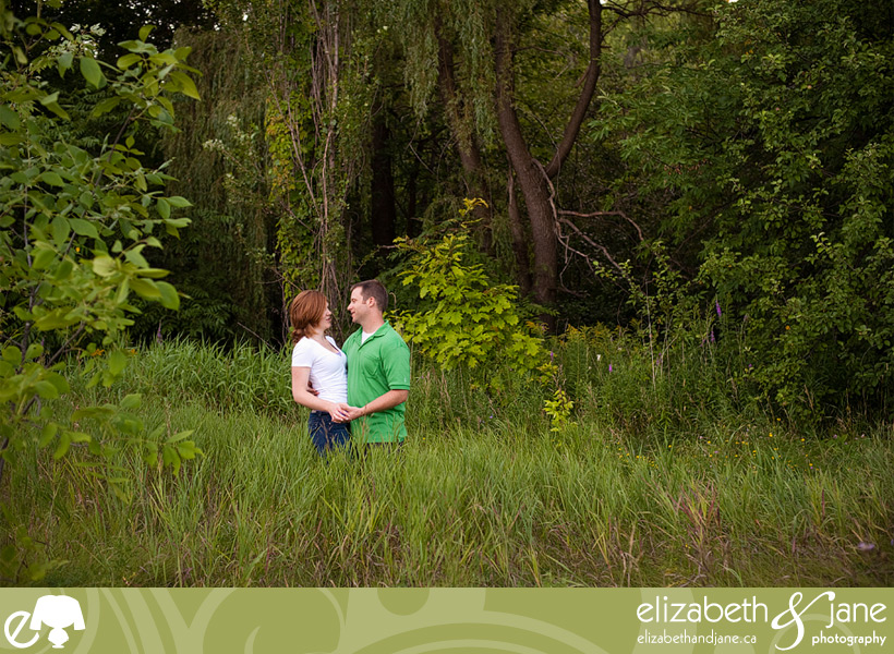 Photo of a couple in a green forest