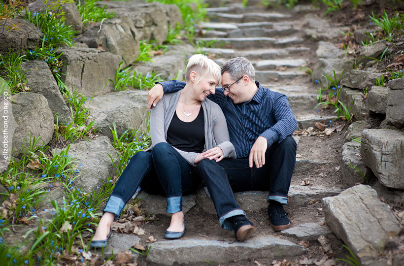 Engagement photo: couple in love before their wedding