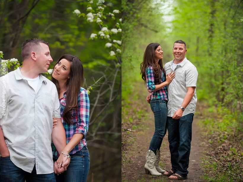 Erika and Trevor Engagement session with their dog Gunner. Photos by Liz Bradley elizabethandjane.ca