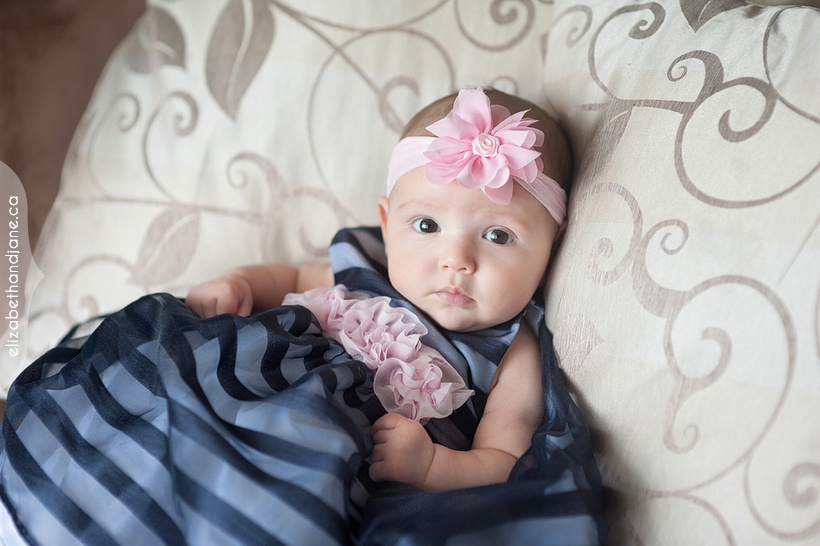 Baby Teagan at 3 months old photographed by Liz Bradley of elizabeth&jane photography https://elizabethandjane.ca