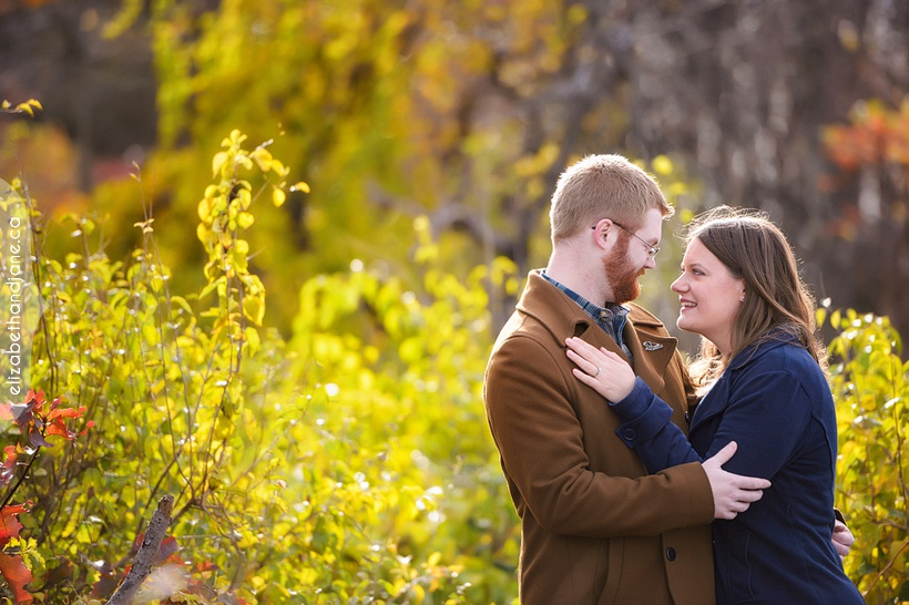 Julia and Derek's engagement session at Champlain Lookout near Ottawa photographed by Liz Bradley of elizabeth&jane photography