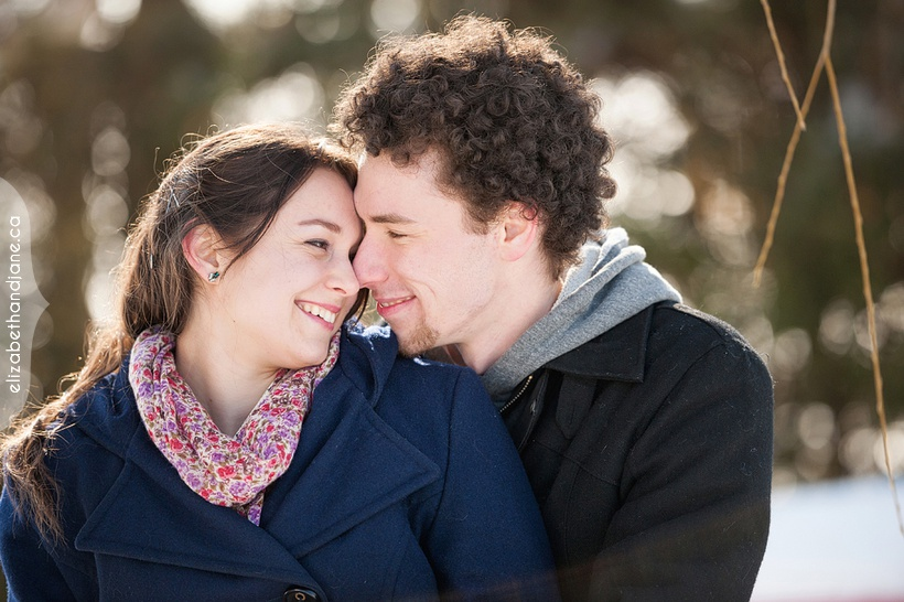 Carley and Eric's Engagement in the winter photographed by Liz Bradley of elizabeth&jane photography