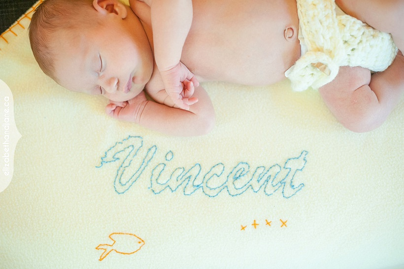 Newborn Vincent photographed in Ottawa by Liz Bradley of elizabeth&jane photography