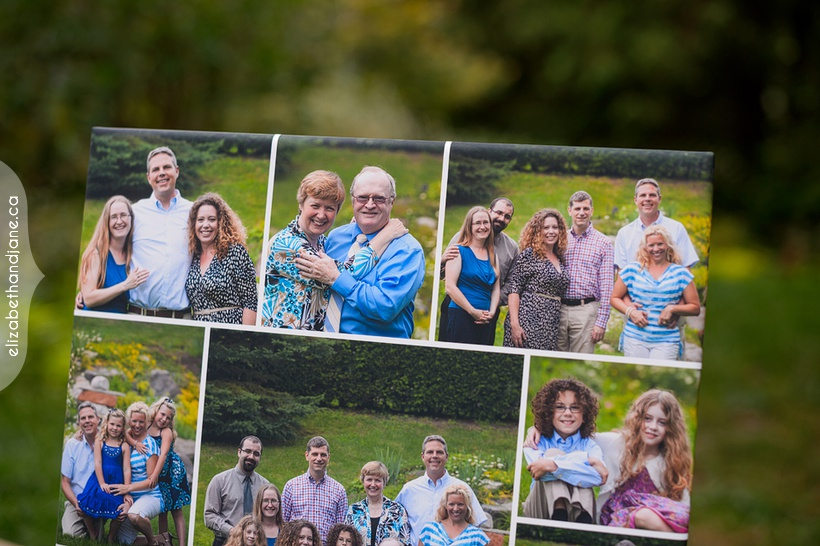 Ward family's storyboard collage photographed in Ottawa by Liz Bradley of elizabeth&jane photography