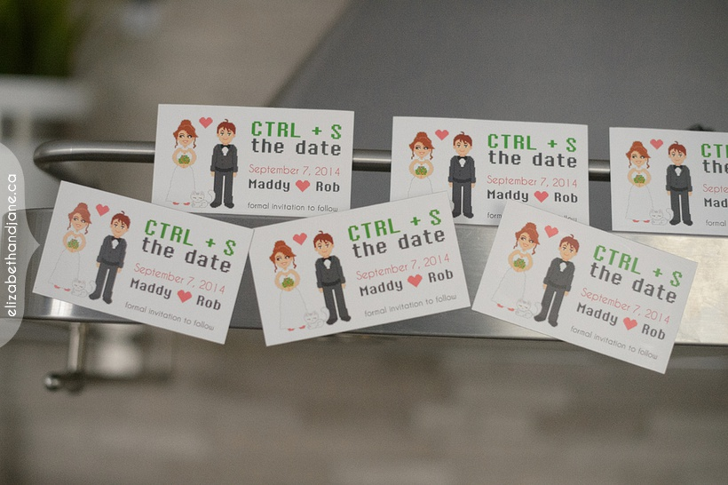 Maddy and Rob's save the date