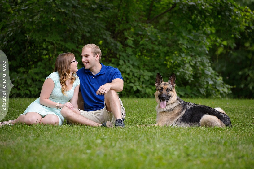 Nicole and Alex with their dog Max photographed in Ottawa by Liz Bradley of elizabeth&jane photography