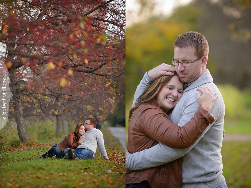 Ashley and Justin's engagement session with their dog photographed in Ottawa by Liz Bradley of elizabeth&jane photography