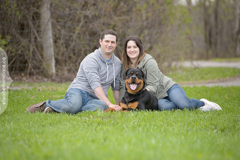 Spring Mini Session with Heather and Dave and their dog Bender photographed by Liz Bradley at elizabeth&jane photography