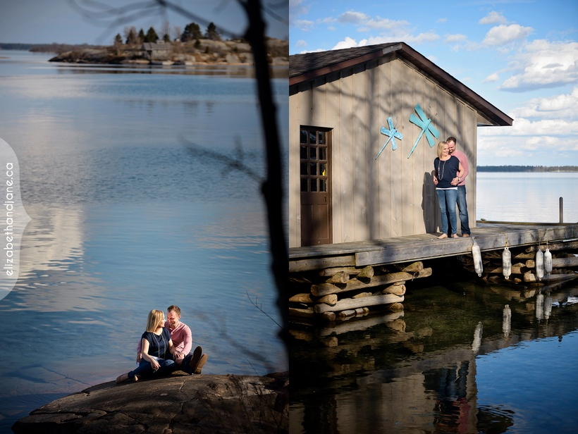 Katie and Chris' engagement session photographed in Brockville by Liz Bradley of elizabeth&jane photography