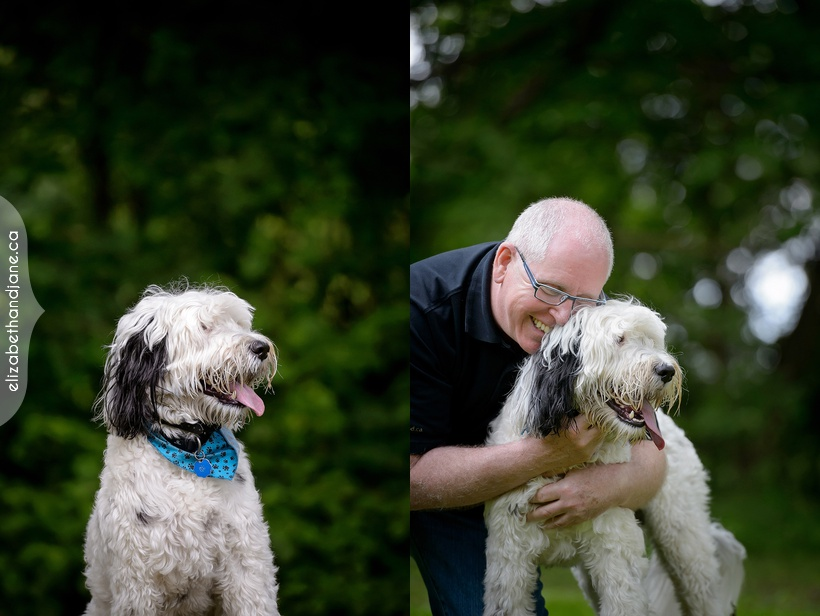 Trinatural dog session in Manotic, Ottawa photographed by Liz Bradley of elizabeth&jane photography