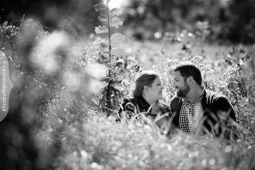 Lauren and Mike's engagement session with their dog photographed in Ottawa by Liz Bradley of elizabeth&jane photography