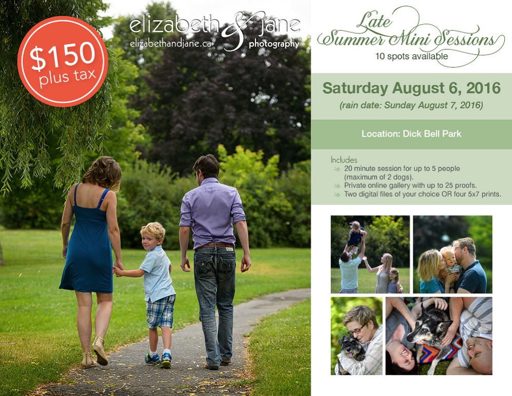 2016 Late summer mini sessions with elizabeth&jane photography