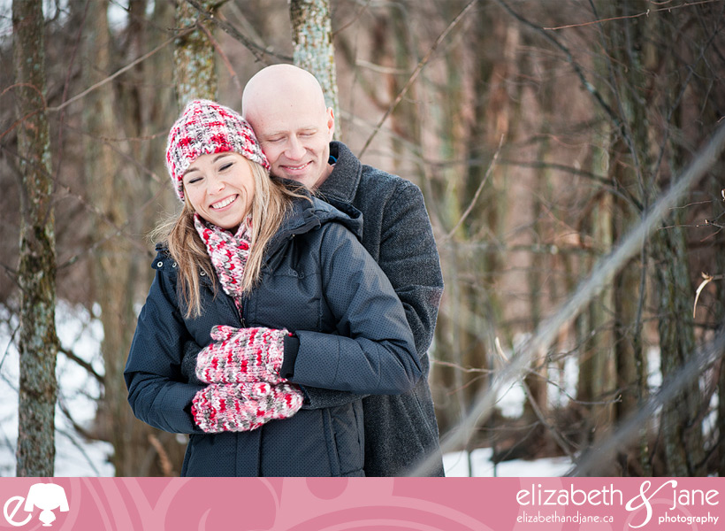 Engagement Photo: couple at Pinhey's Point in Ottawa