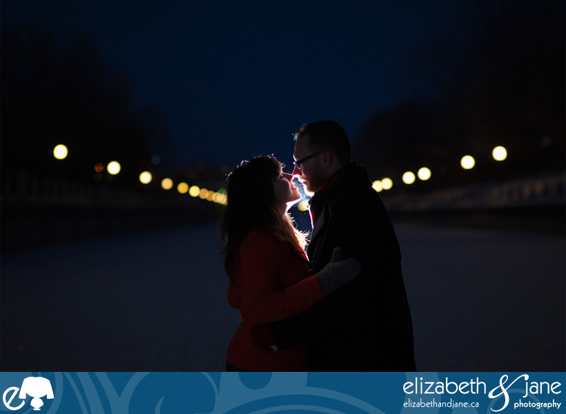 Engagement Photo: couple on the Rideau Canal in Ottawa