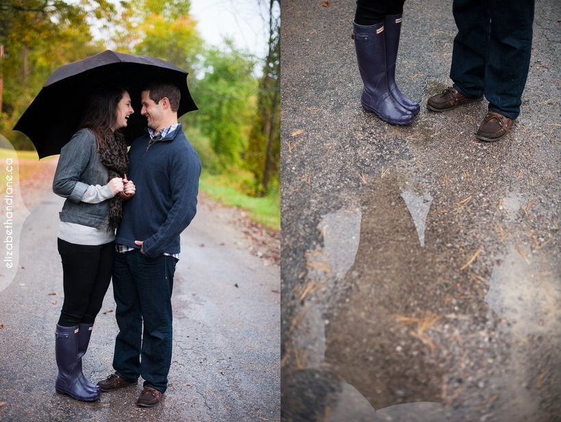 Heather and Dave's engagement session at her cottage