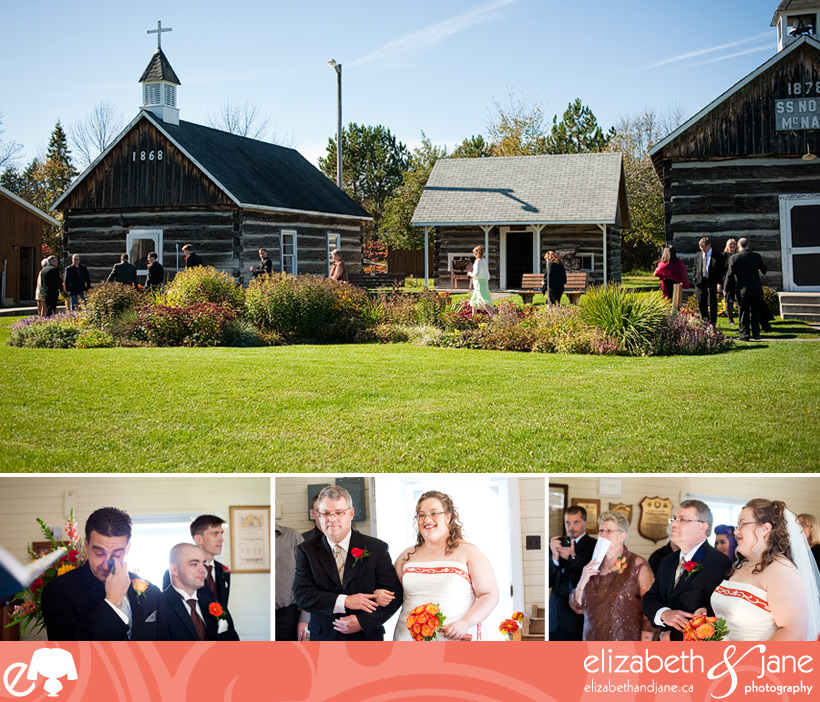 Wedding Photo: wedding ceremony at Waba Cottage in White Lake