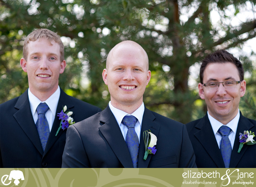 The groom and his groomsmen, right before the bride arrives to the church.