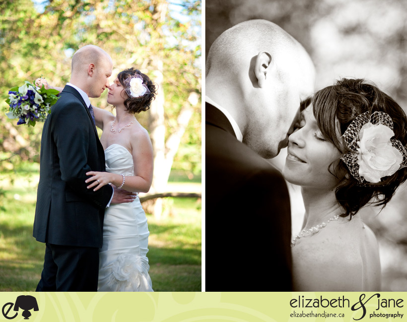 Two beautiful portraits of the bride and groom.