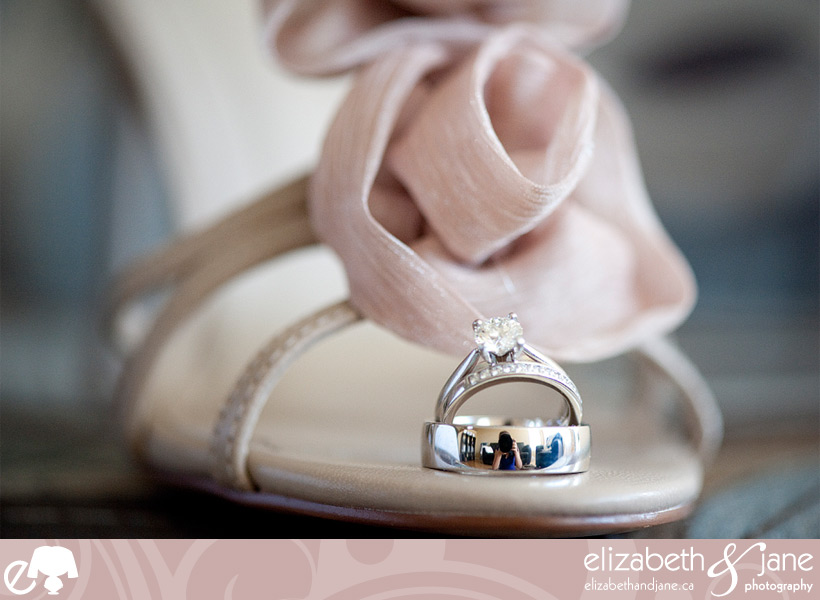 A self portrait in the bride and groom's rings.