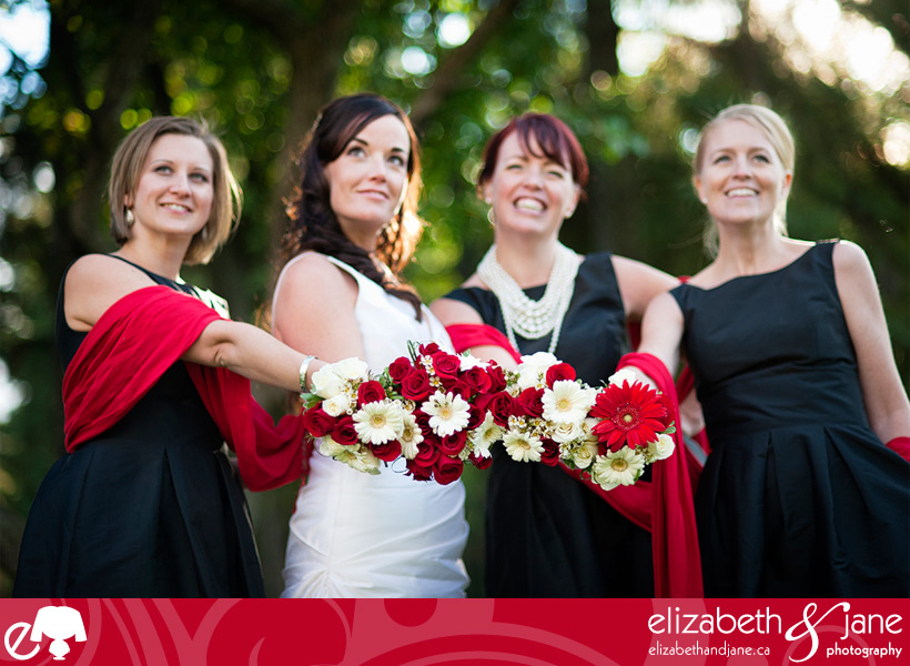 Wedding Photo: bride and bridesmaids