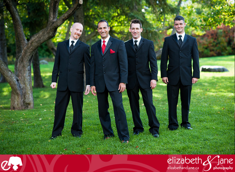 Wedding Photo: groom and groomsmen