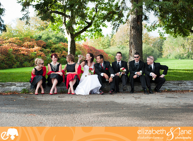 Wedding Photo: bridal party